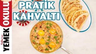 2 Tarif Bir Arada Kolay ve Hafif Kıymalı Börek & Sahan Yumurtalı Pratik Menemen Tarifi