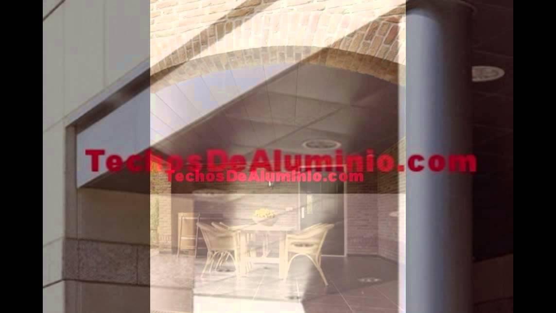 Falso techo de lamas de aluminio for Lamas aluminio techo