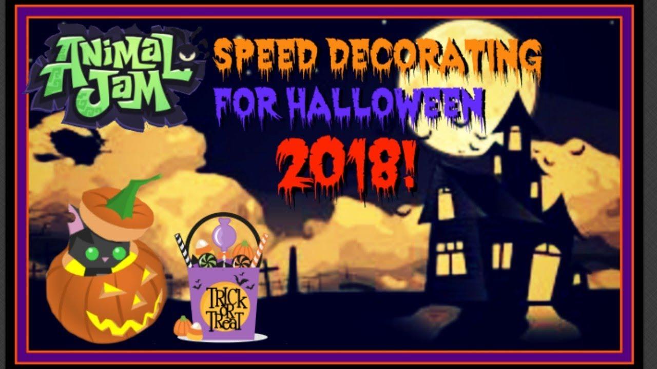 Download Animal Jam: Speed Decorating For Halloween 2018!