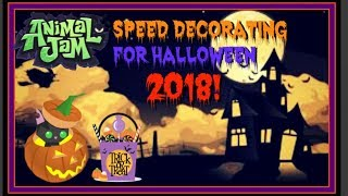Animal Jam: Speed Decorating For Halloween 2018!