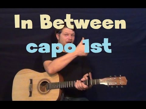 In Between (Linkin Park) Capo 1st -  Easy Guitar Lesson How to Play Tutorial Strum Chords