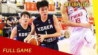 China v Korea - R.o.16 - Full Game - FIBA U17 World Championships 2016