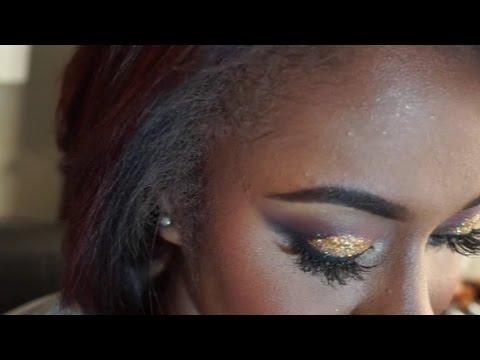 Fall Glitter Eyeshadow Look  MakeupMesha