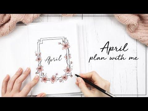 PLAN WITH ME  April 2018 Bullet Journal Setup