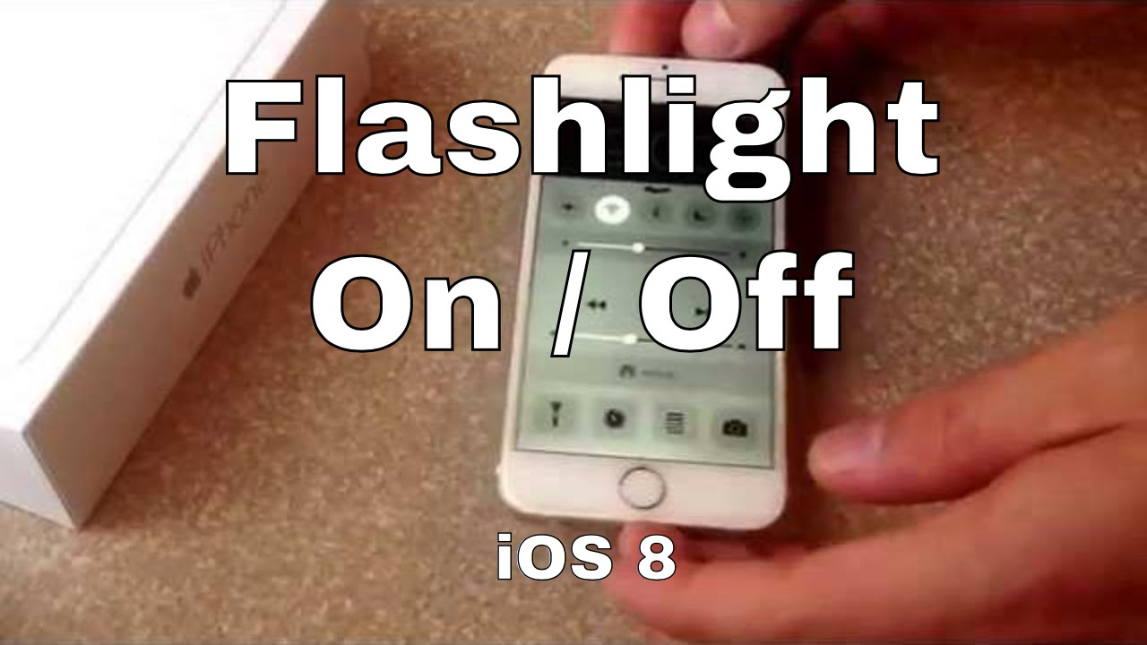 how do i turn off the flashlight on my iphone 6s