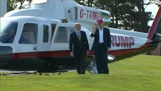 Donald Trump visits golf course in Scotland