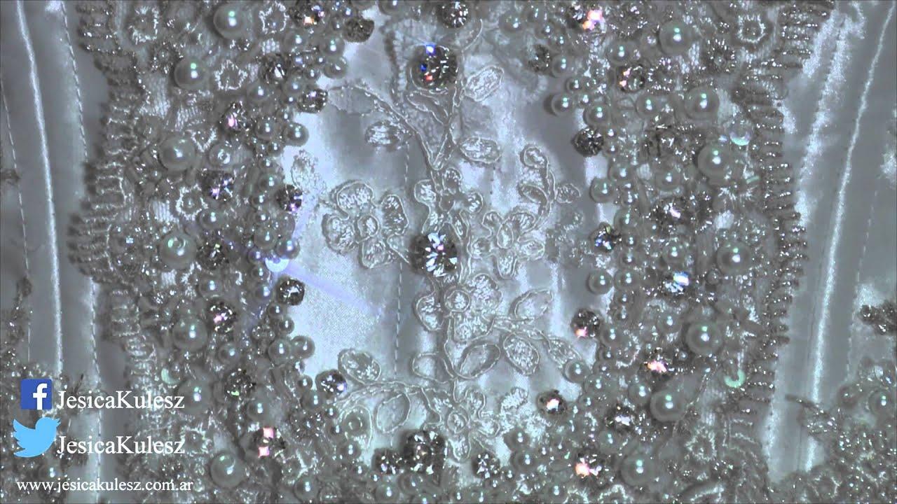 Vestido de novia de cristales y perlas con falda corta - Cristales climalit precio ...
