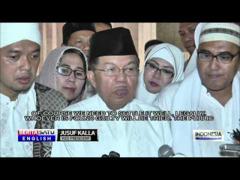Vice President Condemns Church Attacks in Aceh