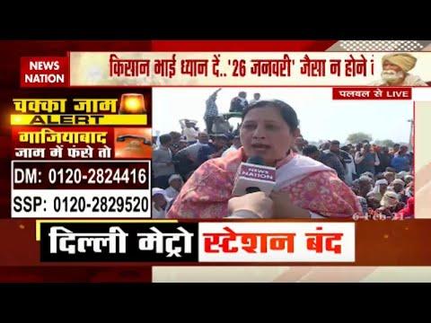 Chakka Jam in Palwal : Exclusive video of women singing ragini in Palwal amid chakka jam