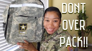 BASIC TRAINING PACKING LIST | WHAT YOU REALLY NEED TO PACK FOR BASIC COMBAT TRAINING!