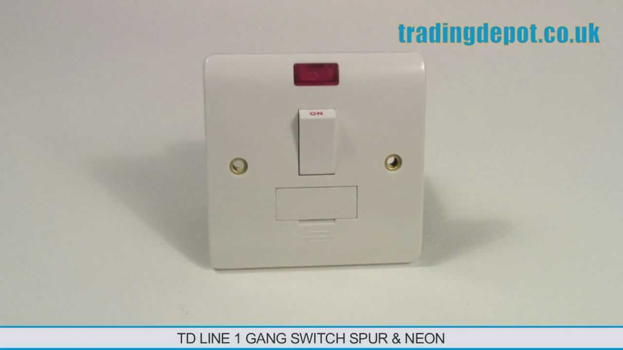 TRADING DEPOT TD Line Switch Spur Neon 1 Gang Part no TLV419