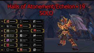 Blood-DK vs Halls of Atonement +19 Solo Season 1