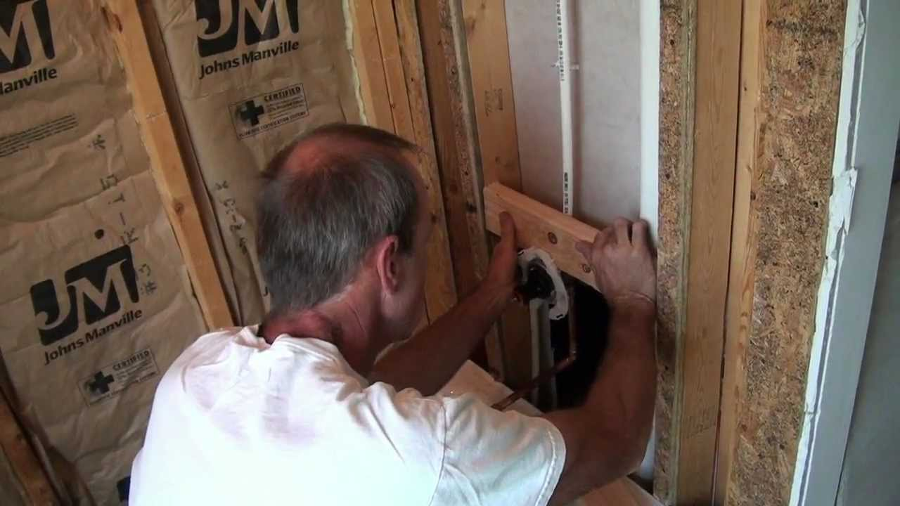 Shower Valve and Tub Spout Mounting - YouTube