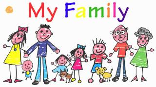 Family Words for Toddlers! - My Family Vocabulary - ELF Kids VIdeos