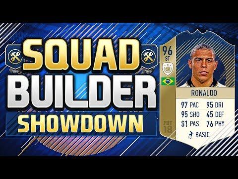 FIFA 18 SQUAD BUILDER SHOWDOWN!!! 96 RATED PRIME RONALDO!!! R9 Ronaldo Squad Duel