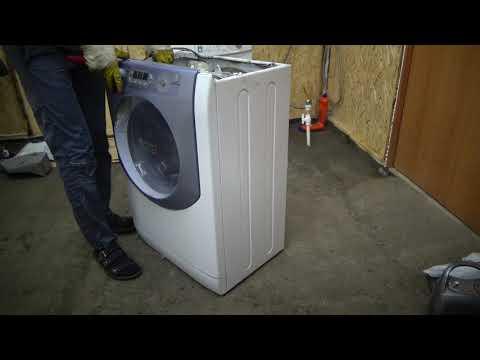 Как заменить подшипники на стиральной машине Аристон не разборный бак!