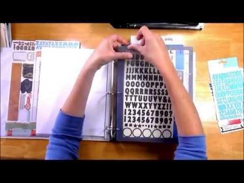Scrapbook Sticker Storage / Organizing Idea - YouTube