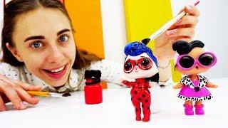 Делаем Леди Баг из куколки ЛОЛ своими руками!