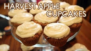 Harvest Apple Cupcakes With Cream Cheese Frosting
