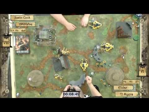 Warhammer 40k Battle Report 015: IG [Astra Militarum] (Justin Cook) vs.  Eldar (TJ Myers)