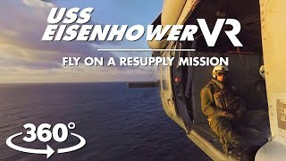 Fly in a chopper for a rare look at aircraft carrier resupply mission in VR