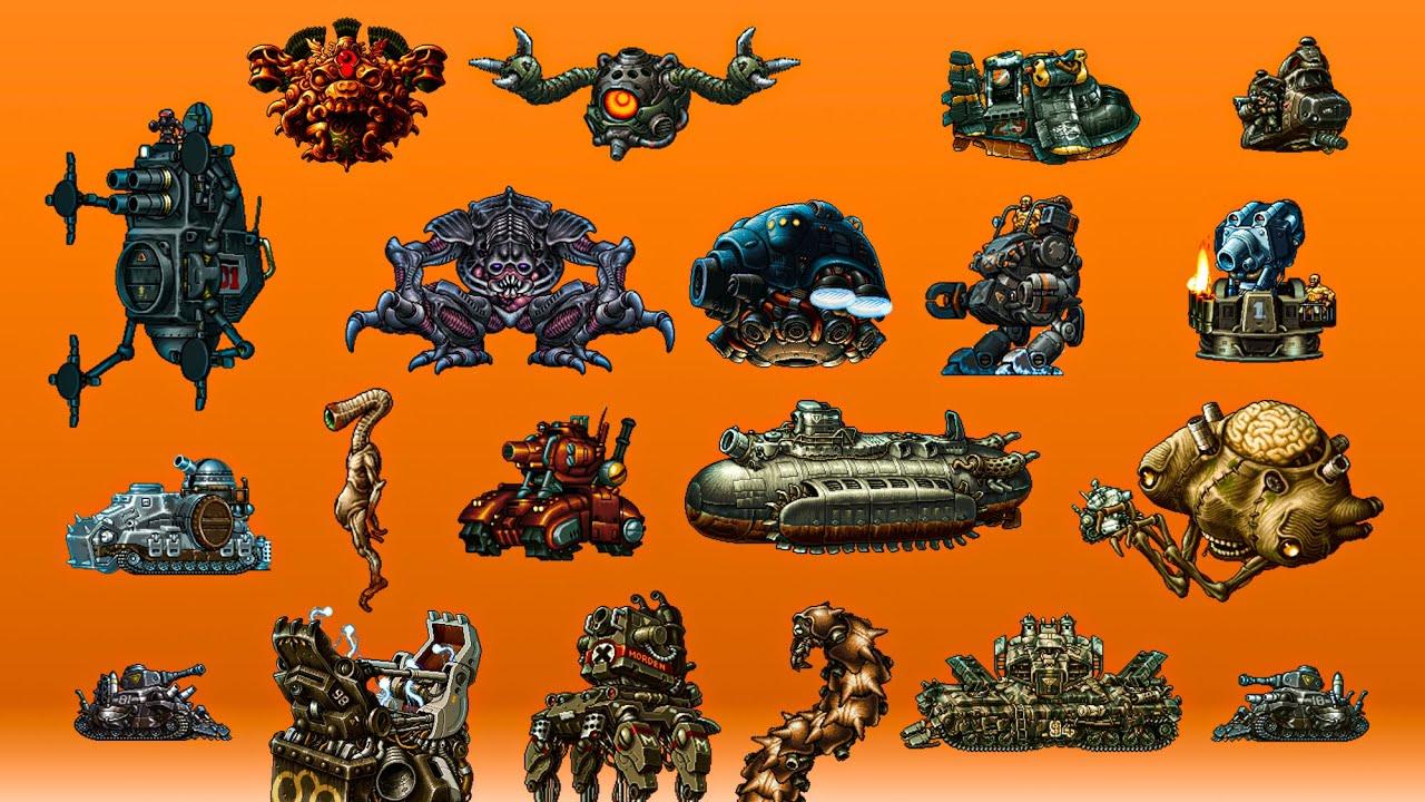 Metal Slug All Bosses (1,2,X,3,4,5,6,7,XX)