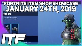 Fortnite Item Shop *NEW* TECH OPS SKIN + SET! [January 24th, 2019] (Fortnite Battle Royale)