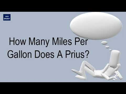 How Many Miles Per Gallon Does A Prius