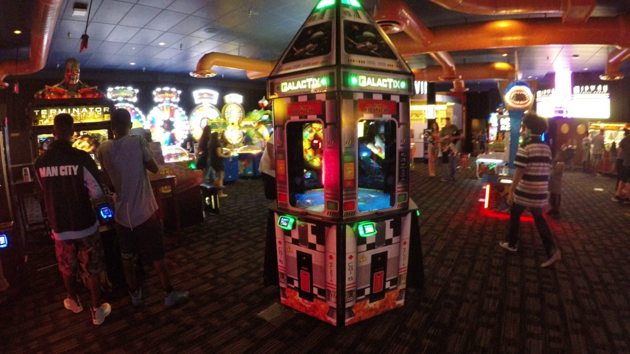 Galactix Game At Dave And Busters Hollywood Fl Winning