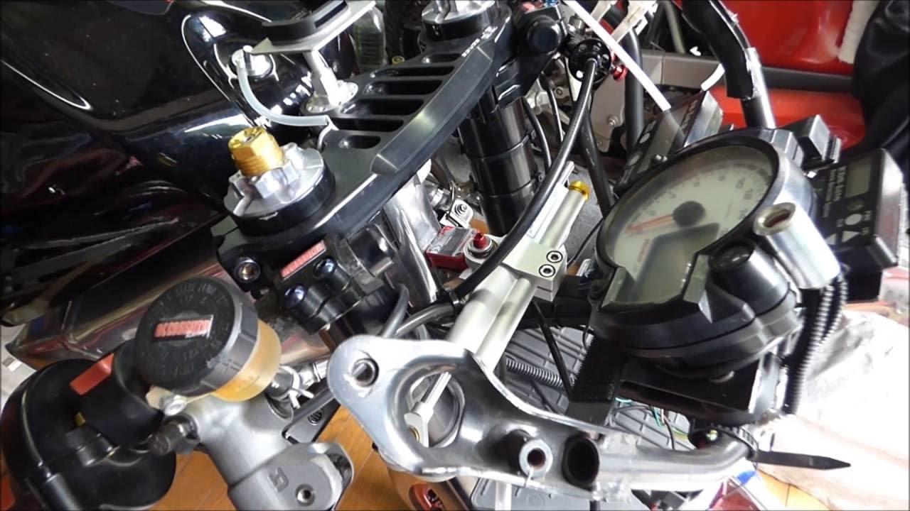 aprilia RS125 steering damper rebuild