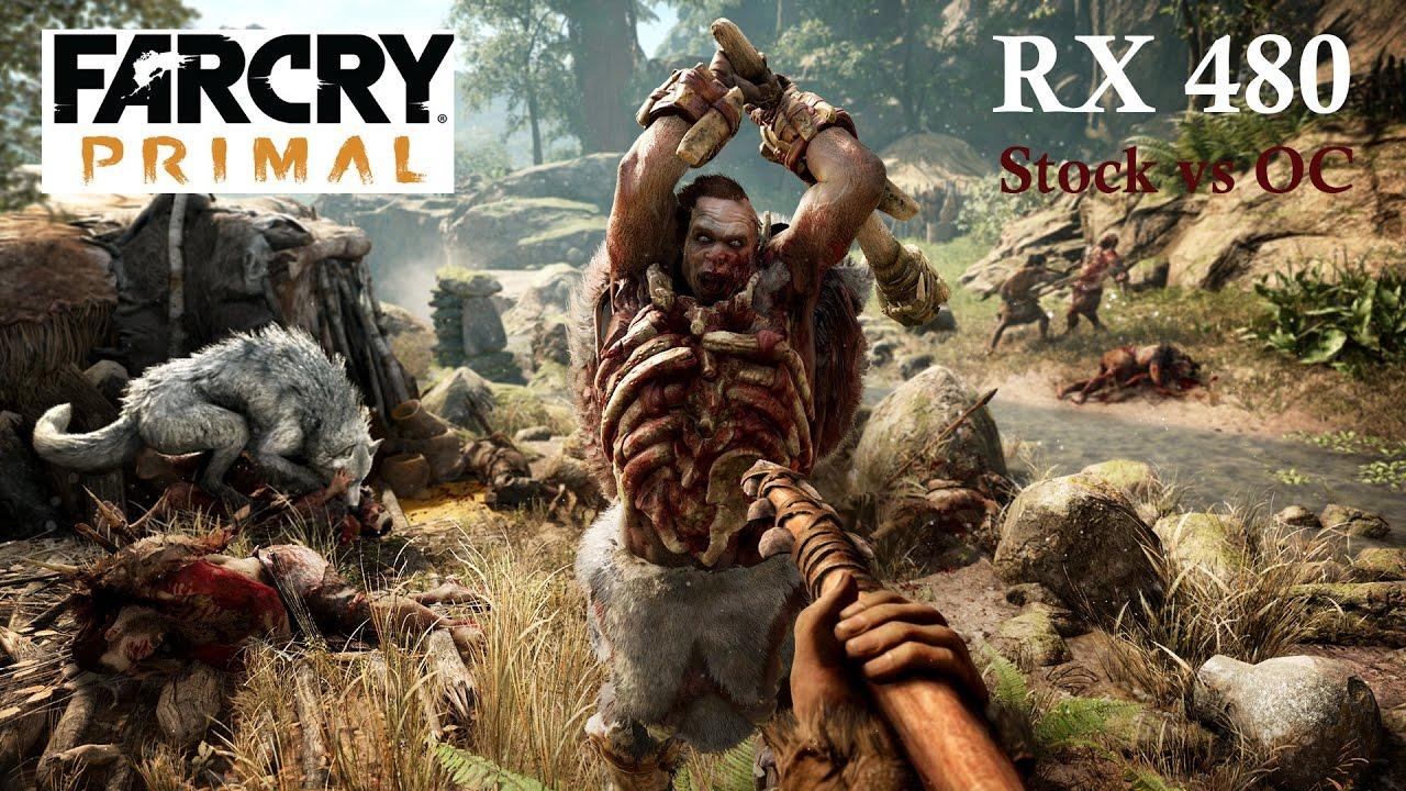 Far Cry Primal RX 480 4GB 2k Stock vs OC Frame-Rate Test