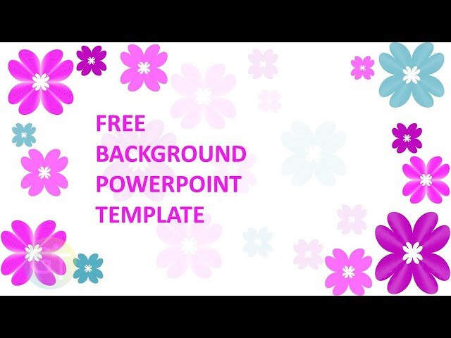 background powerpoint elegant pink flower free powerpoint