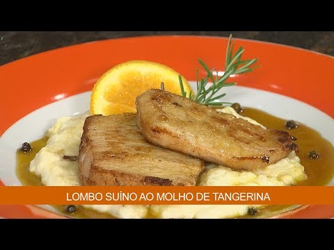 LOMBO SUÍNO AO MOLHO DE TANGERINA E FRANGO COM MOLHO DE MAIONESE