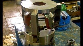 Токарное дело,видео, правильная расточка кулачков  токарного патрона для изготовления спецдеталей.
