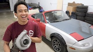 Surprised Calvin with a Turbo for his Miata!
