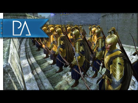 SIEGE AT HELM'S DEEP - Third Age Total War Gameplay