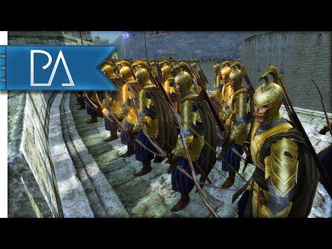 SIEGE AT HELM'S DEEP - Third Age Total War Gameplay