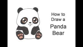 How to Draw a Panda Bear (Cartoon)