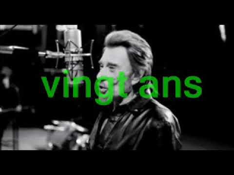 Johnny Hallyday - 20 ans  (Avec les paroles de la chanson)
