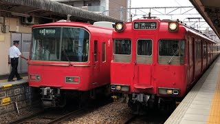岩倉駅にて  名鉄6800系(普通 東岡崎)・100系(普通 犬山) 到着
