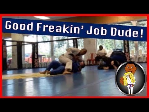BJJ Roll No. 115  - Good Freakin' Job Dude! - Bakari w/Eric at Smiley Academy