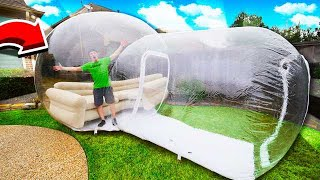 LIVING IN THE WORLDS BIGGEST BUBBLE HOUSE!