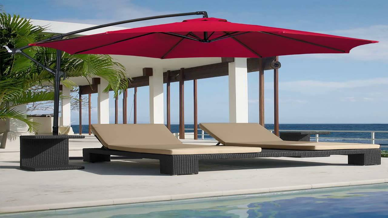 Bellezza Outdoor Patio Umbrella 10 Feet Tilt W Crank Water Proof Polyester