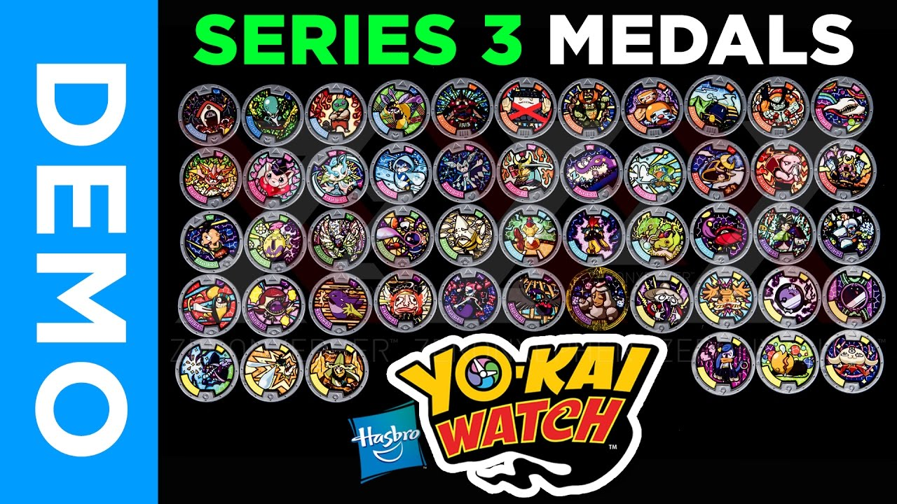 4k hasbro yo kai watch all series 3 medals from for Porte medaillon yokai watch