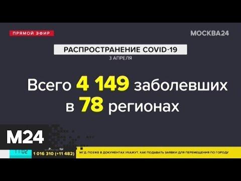 Количество заболевших COVID-19 в России достигло 4 149 человек - Москва 24
