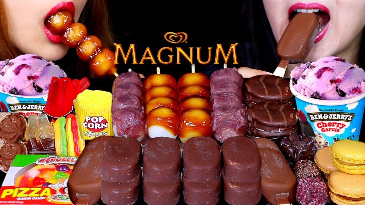 ASMR MINI DESSERTS (DANGO, MAGNUM ICE CREAM, FAST FOOD GUMMY, MACARONS, CHOCO PIE, TICO ICE CREAM)먹방