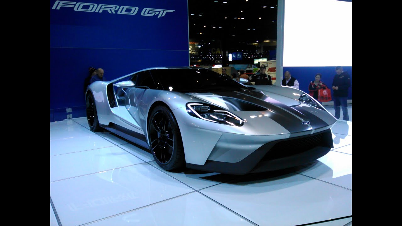 Ford Gt All New In Gray With Stripes