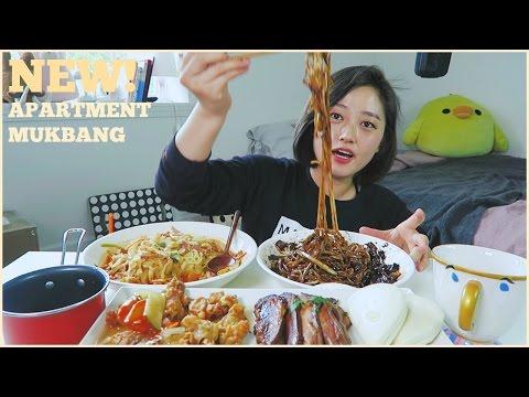 New apartment!! [Black Bean Noodles + Sweet&Sour Pork] Mukbang