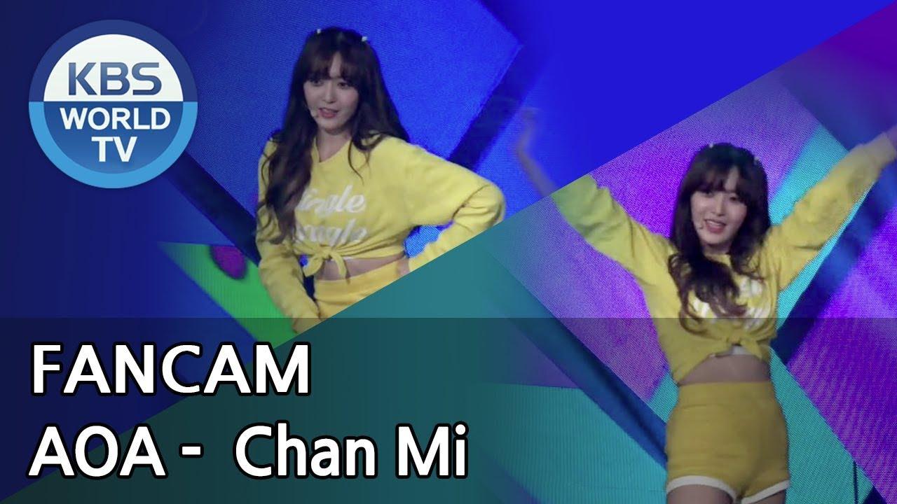 Download [FOCUSED] AOA's Chan Mi - Bingle Bangle[Music Bank / 2018.06.15]
