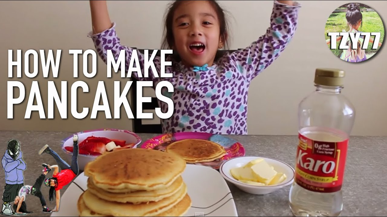 How to make easy pancakes cooking with kids youtube ccuart Images